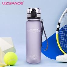 Uzspace спортивные бутылки воды BPA Free 1000 мл Гурд Пластик Тритан воды + бутылки питьевой белка шейкер Пеший Туризм Бутылка для воды