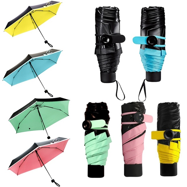 Hot Ing Mini Umbrella Women Parasol Sunny Rain Pocket Sun Small Folding Portable Fashion For S Py