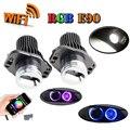 2x10 Вт LED Маркер Angel Eyes Wi-Fi управления RGB цвет изменение led габаритные огни для 2005-2008 BMW E90 E91 Предварительно Подтяжку Лица модели