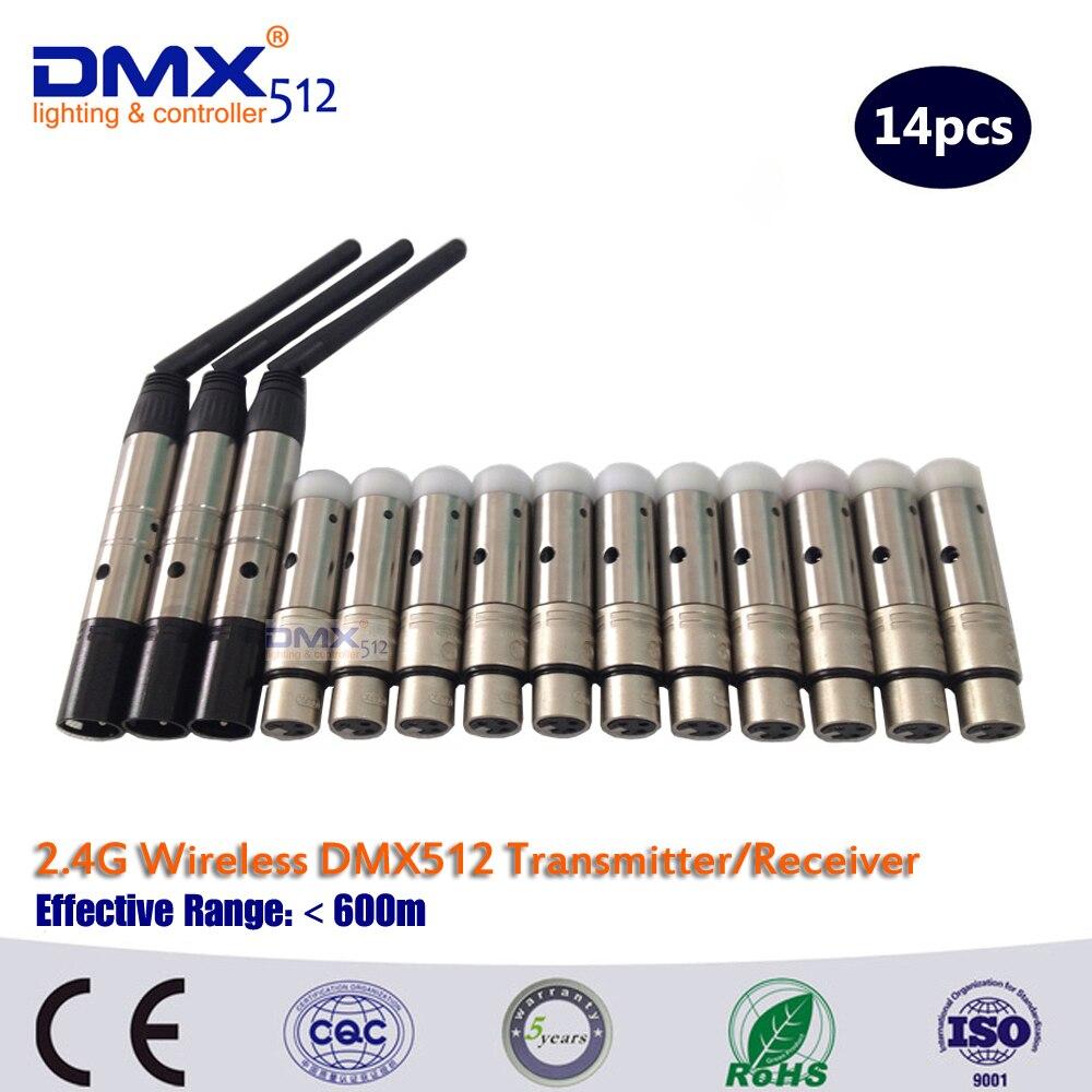 DHL Free Shipping  2.4G wireless DMX512 3pcs  transceiver and  11pcs receiver free dhl fdl g901 11 wireless