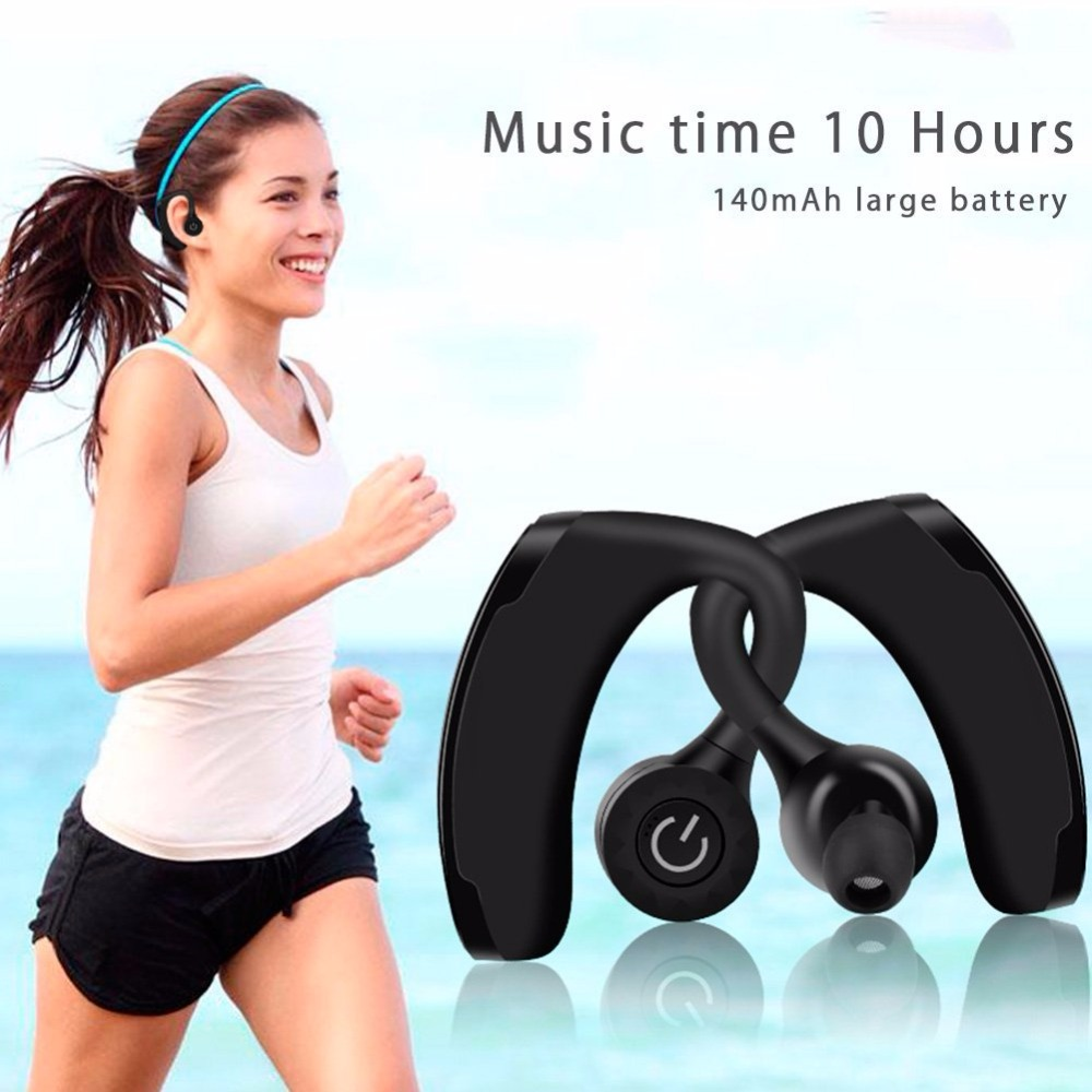 Twins Wireless Bluetooth Headsets Handsfree Wireless Earphone in Pair Voice Control Stereo Long Time Music Earbud Sports Office
