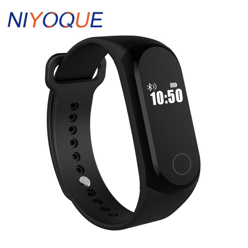 NIYOQUE Smartband A16 Bluetooth Smart Band Heart Rate Sleep Monitor Pedometer Bracelet Wristband Waterproof IP67 For