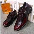 2016 Fashion 100%  Men Dress Shoes Luxury Men's Business Casual Shoes Classic Gentleman Shoes Brand