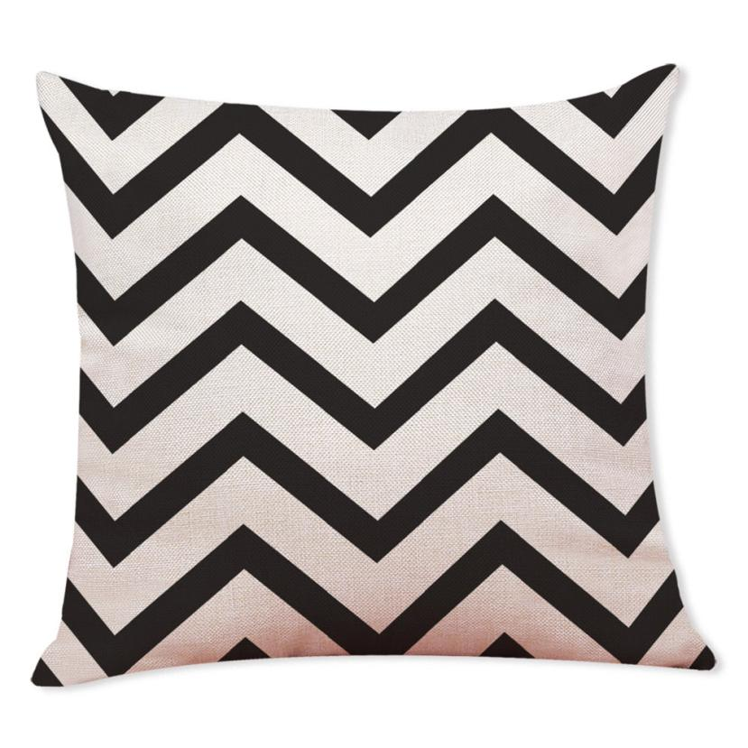 2018 Pillow Case 45*45 Home Decor Cushion Cover Black And White Geometry Throw Pillowcase Pillow Covers Free Drop Shipping B F5