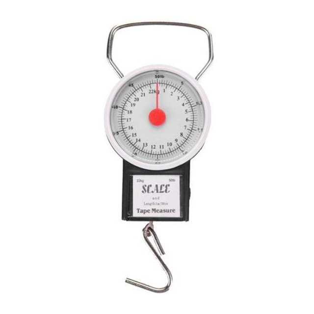 7d900fd49aa1 Urijk 22kg Portable Mini Dial Luggage Scale Bag Weight Blance Baggage  Suitcase Travel Scales Tape Measure Portable Hook Libra