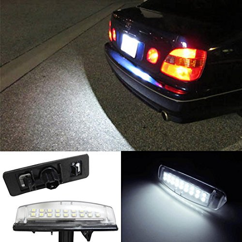 Super Bright 18-SMD LED License Plate Light Lamps For Lexus IS300 GS300 GS400 GS430 ES300 ES330 RX330 RX350 Toyota Prius for lexus gs300 gs400 gs430 gs 300 400 430 led car license plate light number frame lamp high quality led lights