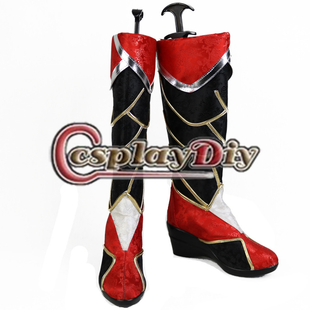 The Nine Tailed Fox Ahri LOL Cosplay Shoes Boots Adult Women Game Cosplay Shoes Custom Made