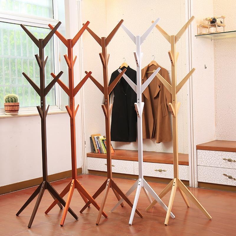 Solid Wood Clothe Rack Landing Simple Living Room Bedroom  Landing Modern Simple Hats Rack Creative Coat Rack  Furniture