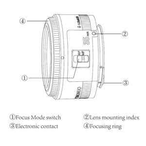 Image 4 - Yongnuo YN35mm F2.0 عدسة واسعة زاوية ثابتة/رئيس السيارات التركيز عدسات لكاميرات كانون 600d 60d 5DII 5D 500D 400D 650D 600D 450D كاميرا عدسة