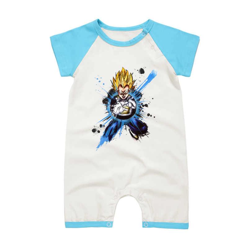 2017 летняя одежда для малышей с короткими рукавами; комбинезон с рисунком дракона; комплект одежды для маленьких мальчиков; хлопковая верхняя одежда с круглым вырезом для новорожденных; комбинезоны