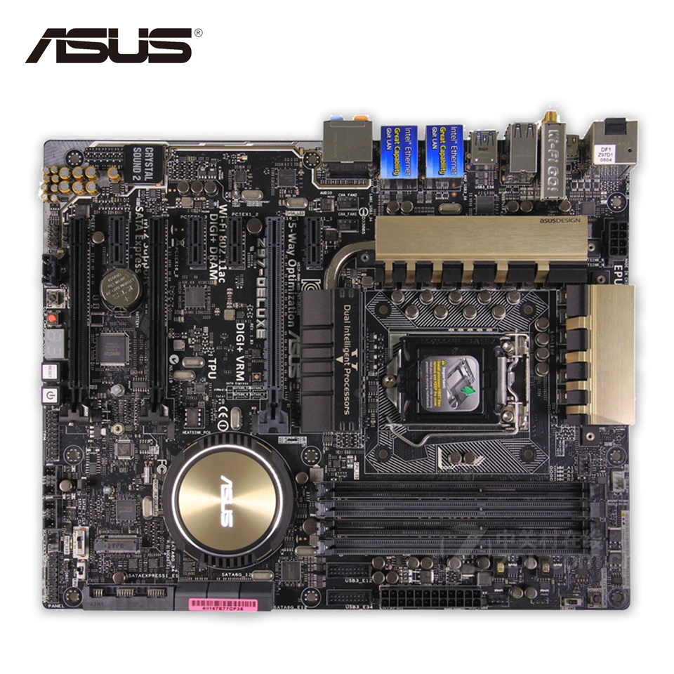 Original Used Asus Z97-Deluxe Desktop Motherboard Z97 Socket LGA 1150 i7 i5 i3 DDR3 SATA3 USB3.0 ATX 100% Fully Test asus h87 plus deluxe board 1150 b85 motherboard