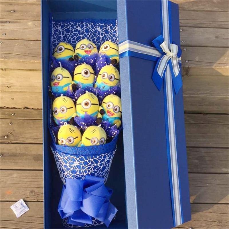 Cadeau de vacances En Peluche & trucs jouets Animaux de bande dessinée bouquets de fleurs boîte cadeau Créatif Graduation Saint Valentin cadeaux De Noël