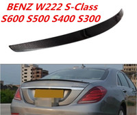 Углеродного волокна заднего крыла багажник спойлер для BENZ W222 S класс S600 S500 S400 S300 S63 S65 2014 2015 2016 2017 2018