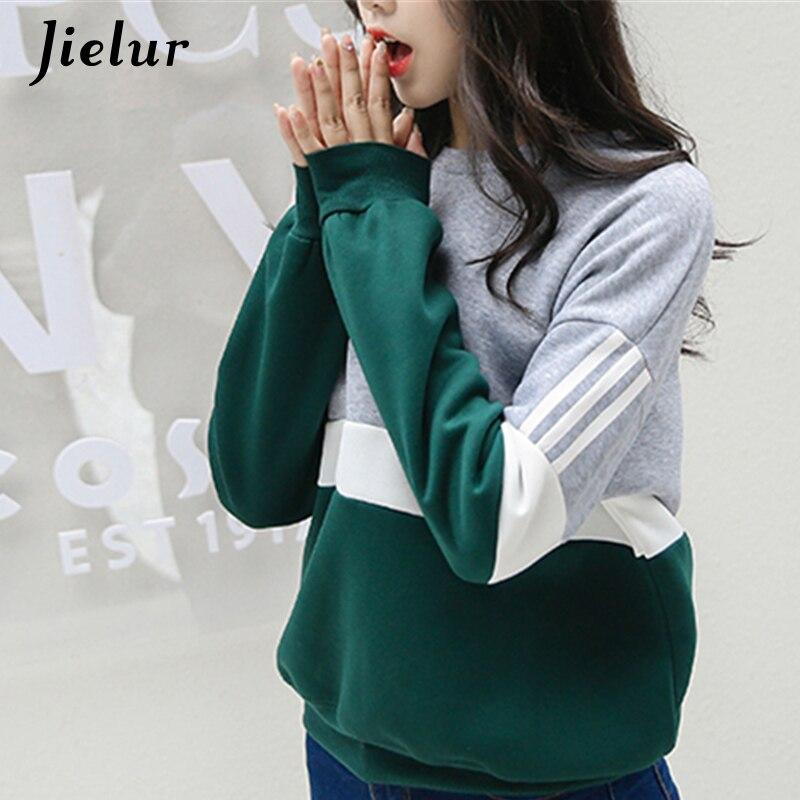 Herbst Neue Zauber Nähte Harajuku Frauen Hoodies Pullover Fleece Lose Weibliche Trainingsanzüge Casual Rundhals Sweatshirt 2XL