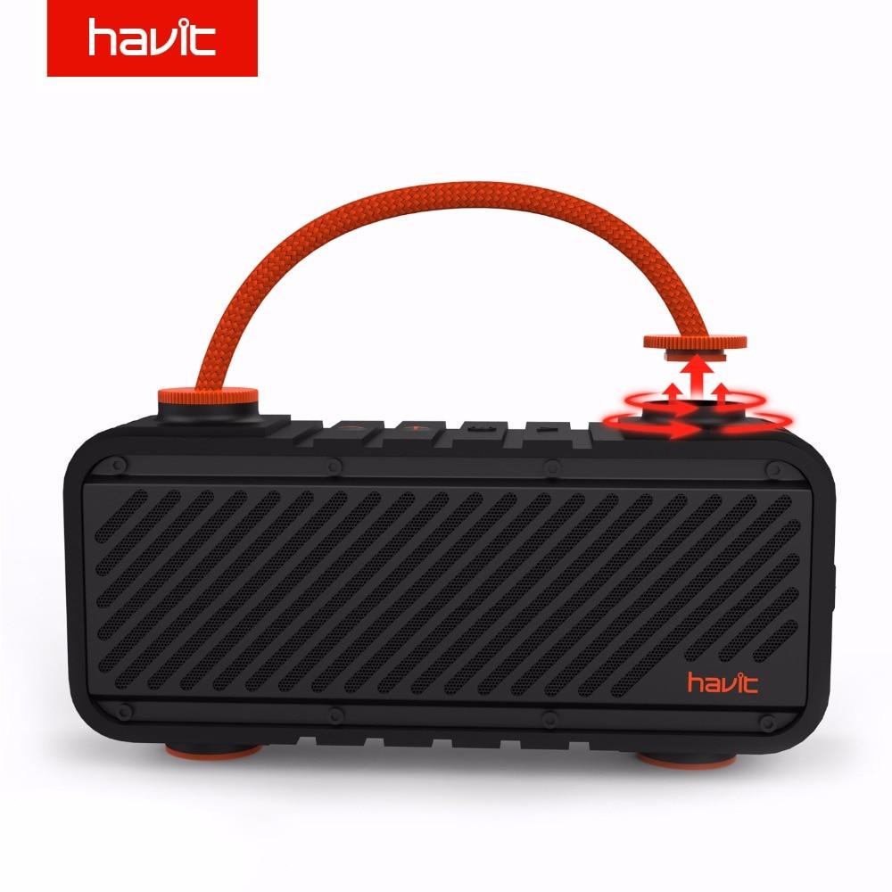 HAVIT Bluetooth Speaker Wireless 4.2 Waterproof Shockproof Outdoor Portable Sport Speaker Bass Speaker Support Power Bank M22