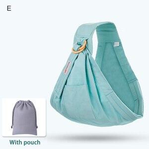 Image 4 - Nosidełko dla dzieci noworodek chusta podwójnego zastosowania niemowlę chusta do karmienia przewoźnik siateczkowa tkanina nosidełka do 130 funtów (0 36 M)