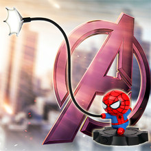 Super Spiderman Avengers Union 3 Led Night Light Resin Craft Kids Home Desktop Table Lamp Figurines Birthday Xmas Wedding Gifts(China)