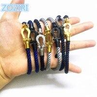 Fashion Women Cotton Cord Magnetic Buckle Bracelet Force Luxury Brand France Jewelry U Shape Twist Rope