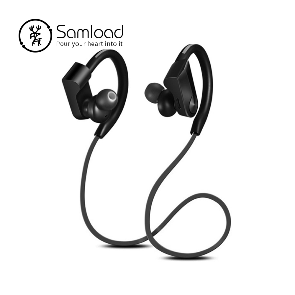 Samload Sport Auricolare Senza Fili Bluetooth Auricolare Stereo Impermeabile Della Cuffia del gancio Dell'orecchio Auricolari Per il iphone di Apple 6 7 8 Xiaomi Sony