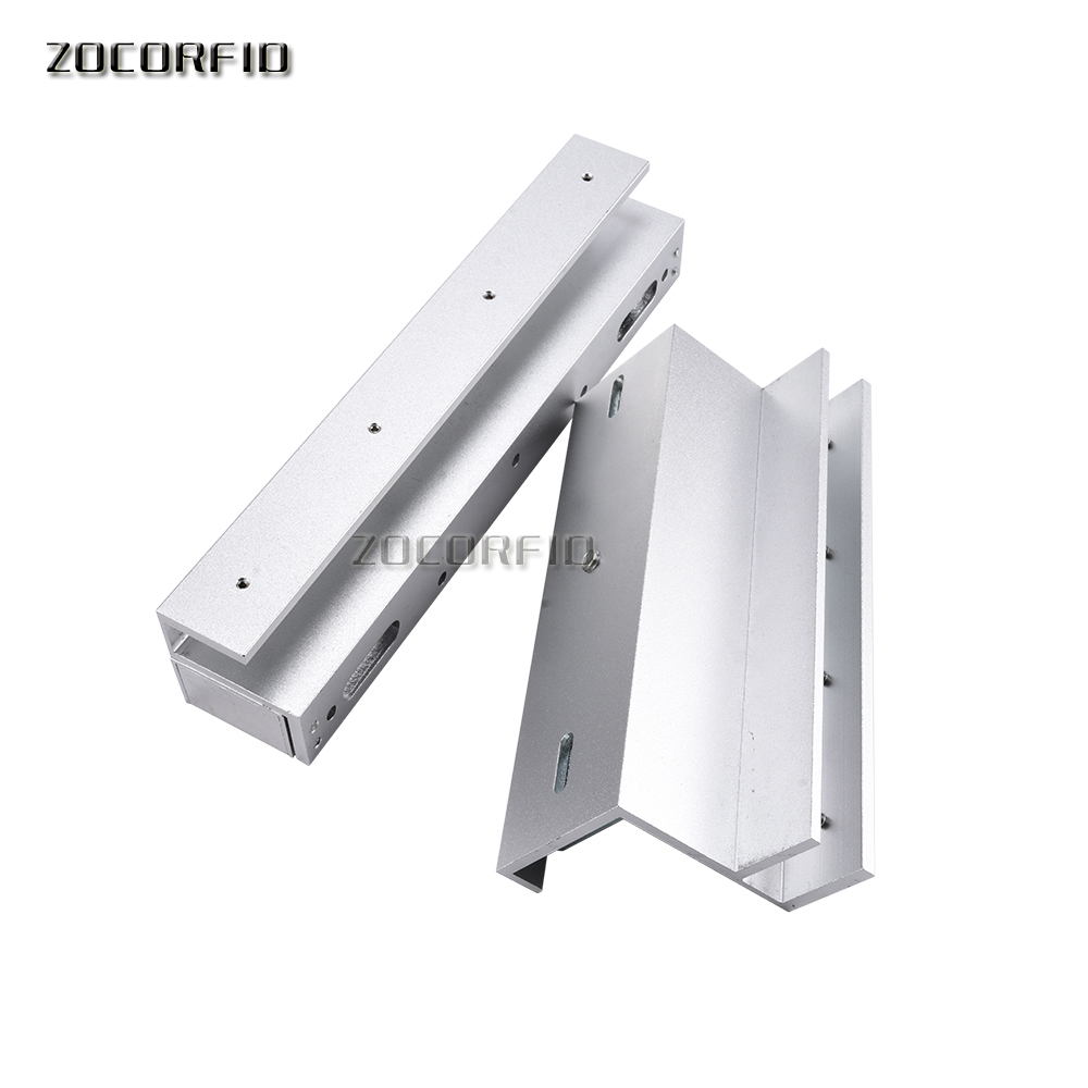 Free shipping U bracket 280KG magnetic lock frameless glass door access control system U bracket 180 kg magnetic lock u type bracket glass door clamp supporting clip access control system
