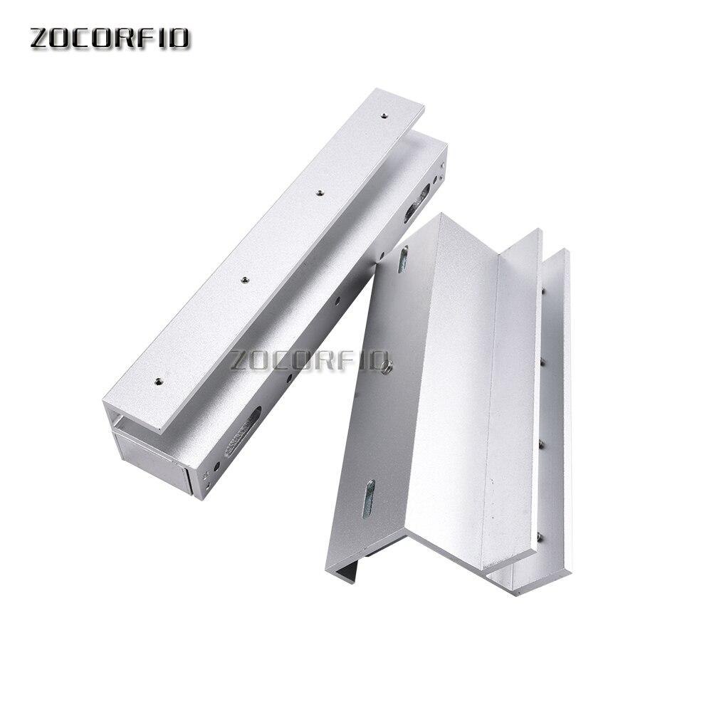 Livraison gratuite U support 280 KG serrure magnétique sans cadre porte en verre système de contrôle d'accès U support