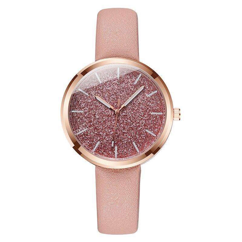 New Fashion Watch Women Romantic Glitter Wrist Watches Leather Ladies Quartz Watches Clock bayan kol saati Relogio Feminino gift Наручные часы