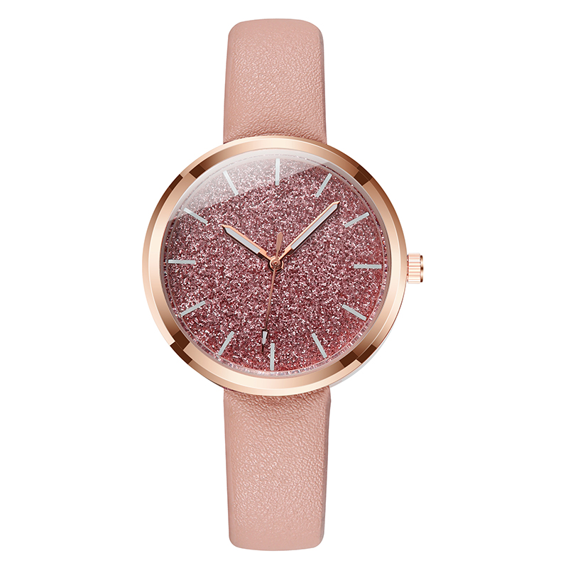New Fashion Watch Women Romantic Glitter Wrist Watches Leather Ladies Quartz Watches Clock bayan kol saati Relogio Feminino gift newly design dog pug watch women girl pu leather quartz wrist watches ladies watch reloj mujer bayan kol saati relogio feminino