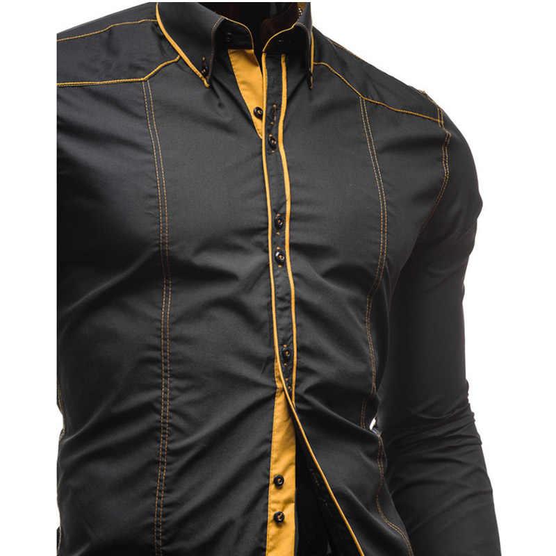 Оптовая продажа 2019 модная мужская одежда джентльмена с длинными рукавами для отдыха, тренки Джокера, смокинг, Свадебный Жених, мужская рубашка с длинными рукавами