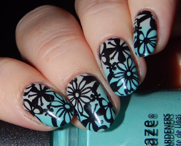 1 Pc BP Mixed Flower Pattern Nail Stamp Plate Cute Nail Art Stamp Stamping Template Image Plate BORN PRETTY Plate#20