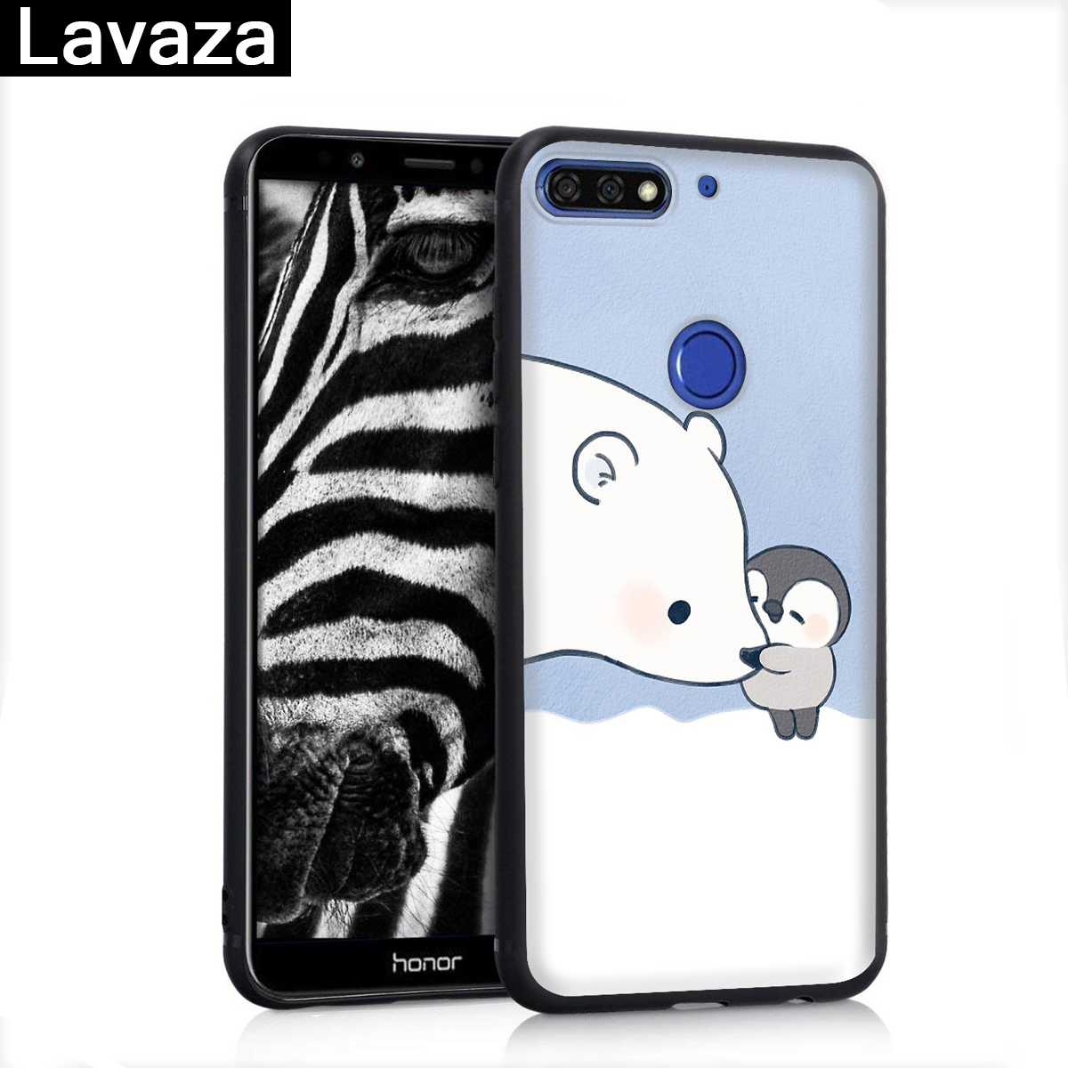 Lavaza Lovely Penguin Polar Bear Silicone Case for Huawei P8 Lite 2015 2017 P9 2016 Mini P10 P20 Pro P Smart 2019 P30 in Fitted Cases from Cellphones Telecommunications