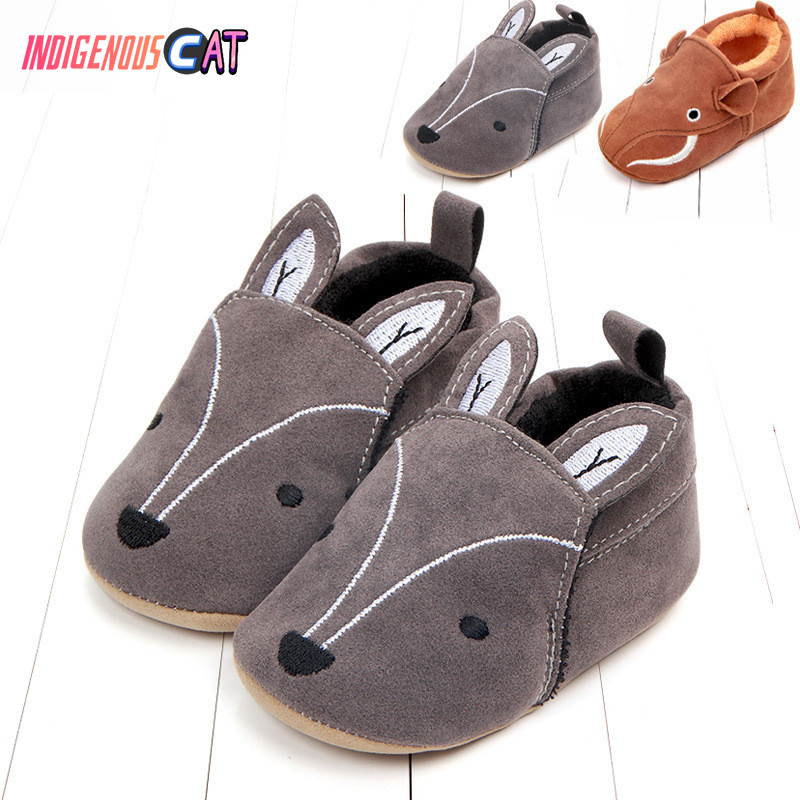 2019 Toddler Newborn Baby Girl Boy Soft Sole Cute Crib Shoes Slipper First Walker Anti-slip Sneaker Baby Shoes Fox Baby Shoes