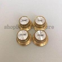 4 pcs/set Guitar Volume&Tone Button Cap Gold Knobs For LP SG Electric guitars