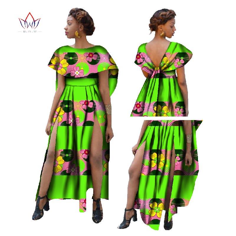 African Dresses For Women 2018 Fashion Bazin Riche Ruffles Sexy