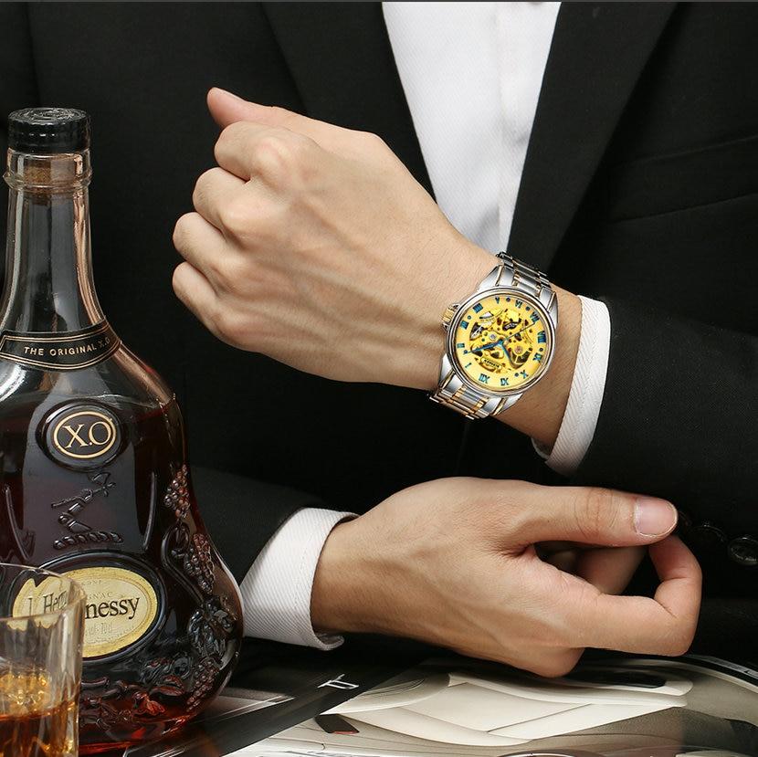 BINSSAW mados prabangos prekės ženklo vyrų laikrodžiai 2018 - Vyriški laikrodžiai - Nuotrauka 6
