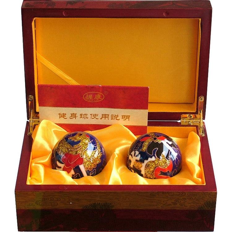 Chinese Health Exercise Balls,Hand Ball ,Dragon And Phoenix Pattern Diameter 5 Cm,one Pair chinese palace pure bronze copper auspicious dragon phoenix pot bottle vase pair