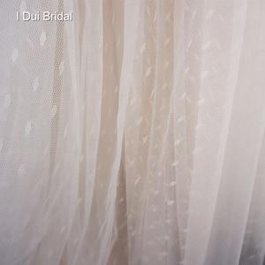 Image 5 - Dot Tulle Beach Wedding Dress Spaghetti Pearl Beaded Strap Bridal Gown