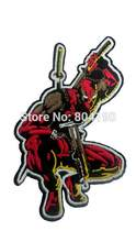 "3.5 ""Deadpool Marvel Comics X-men Magneto Custume Filme Wolverine Uniforme Bordado Ferro No Remendo TRANSFERÊNCIA do MOTIVO APLIQUE(China)"