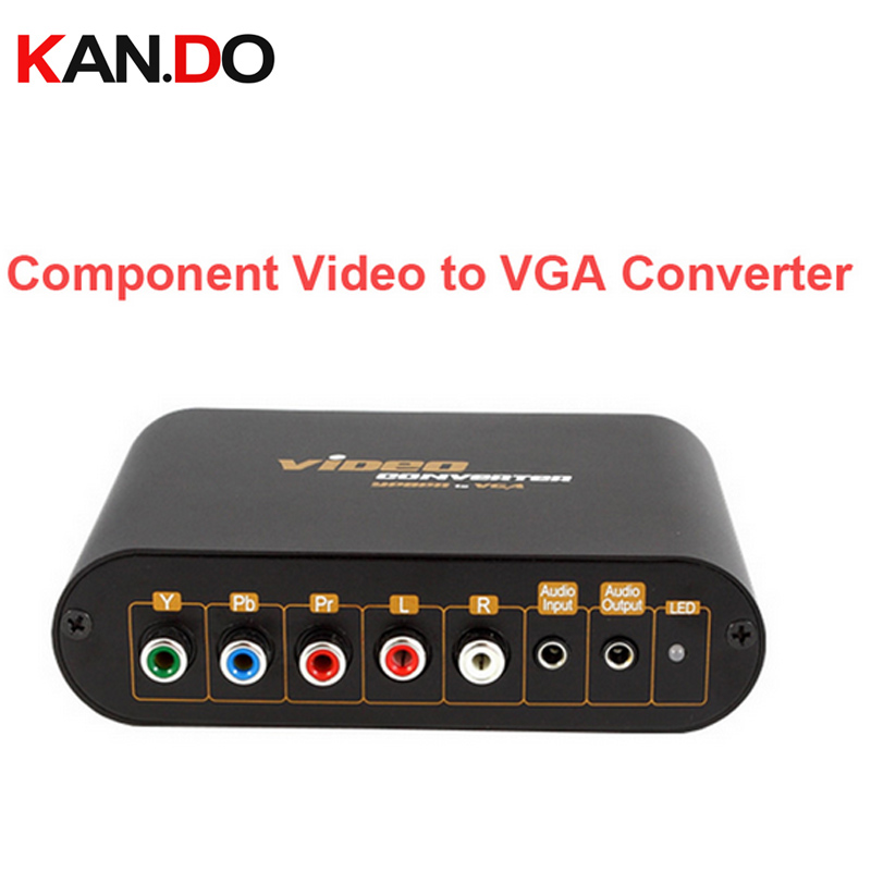 7600 Component video to VGA Video Converter,change YPbPr to Composite Video&S-video converter YPbPr AV to VGA output adapter купить