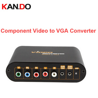 7600 Component video to VGA Video Converter,change YPbPr to Composite Video&S-video converter YPbPr AV to VGA output adapter