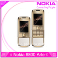 DHL Free shipping 4G internal memory 8800 arte gold nokia original refurbished phone camera 3.15MP