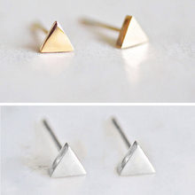 Korean Fashion Stainless Steel Earrings Ladies Triangle Small Earrings Earringss Women's Fashion Style Jewelry 2019(China)