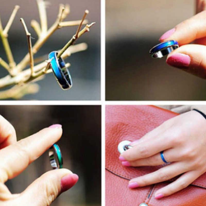 Dijual Menakjubkan Mood Cincin Emosi Perasaan Perubahan Warna Adjustable Cincin Perhiasan