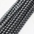 "Mini. orden es $7! 4 mm hermoso negro Hematite ronda suelto perlas 15 """