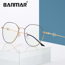 BANMAR Vintage Anti Blue ray Glasses Frame Women Reading Goggle Light Proof Computer Transparent Optical Eyewear