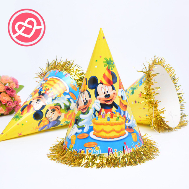 mickey minnie mouse happy birthday party hats caps baby shower christmas party decorations photograph decoration kids - Mickey Mouse Christmas Party Decorations