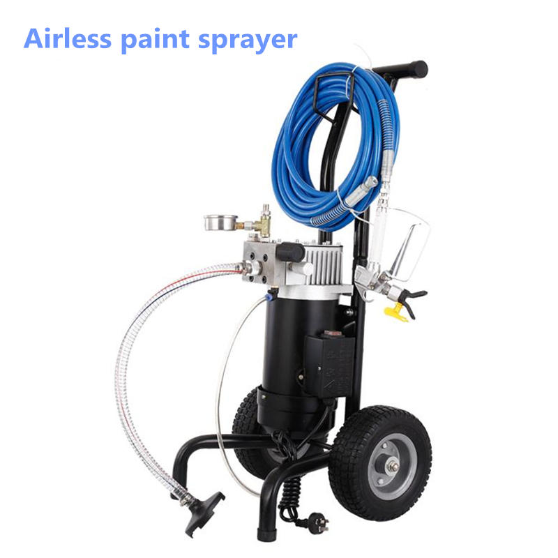 Electric Airless Spray Gun High Pressure Paint Sprayer Airless Spraying Machine M819A With English Manual sipriks genuine leather yellow brown oxfords shoes for men luxury brand custom goodyear welted shoes vintage carved dress shoes
