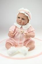 New design fashion  Silicone Vinyl Baby Dolls Reborn Dolls Toys For Children Birthday Gift lifelike Handmade doll