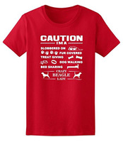T Shirts Man Clothing Free Shipping I M A Crazy Beagle Lady Dog Lover S Ladies