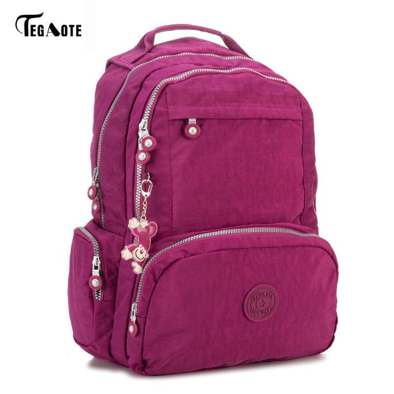 Tegaote 2017 Men Nylon Backpack College Student School Backpack Bags For Teenagers Vintage Mochila Casual Rucksack Travel Bag