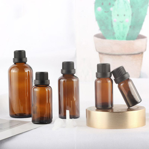 Image 2 - 5 100ML Big Head Amber Brown Glass Drop Bottle Aromatherapy Liquid for essential basic massage oil Pipette Bottles Refillable